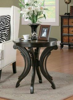 Animal Print Accent Table by Coaster Home Furnishings. $191.07. Scrolled base. Smooth surface. Durable construction. Animal Print Accent Table. Coaster realizes the importance of your home, which is why they have an endless variety of furniture in countless styles and designs. The designs are capable of fitting the needs all around the home and the quality is at a level you can trust. Add some style with this stately accent table. Featuring a bold animal print...