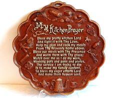 Vintage Kitchen Prayer Wall Plaque by TimelessTreasuresbyM on Etsy