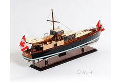 Yacht Dolphin Hand-Built Wooden Boat Model