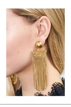 ad9cb40c059 Justine Fringe Earrings by Rachel Zoe at ORCHARD MILE Holiday Party Outfit,  Holiday Outfits,