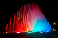 Fountain Garden Park in Lima, Peru Lima Peru, South America, Places To See, Color Pop, Cool Photos, Fountain Garden, Beautiful Places, Around The Worlds, Garden Park