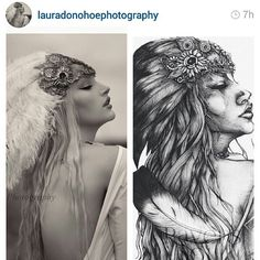 Before and after of the photo that inspired my most recent drawing. Thank you both for sharing! Photography @lauradonohoephotography Model @oliviaharrietuk ♡  #before #after #inspiration #reference #fashionphotography #fashionstudy #fashionillustration #portraitillustration #model #woman #girl #portrait #drawing #pen #ink