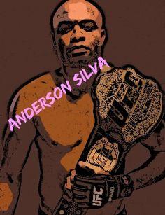 Anderson Silva cartoon #AndersonSilva #Cartoon Ultimate Fighting Championship, World Famous, Cartoon Art, Division, Mma, Spider, Movie Posters, Spiders, Film Poster