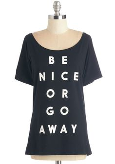 Keep Your Options Spoken Tee. Tell it like it is in this sassy graphic tee. #black #modcloth