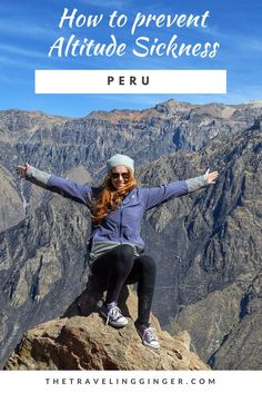 Altitude sickness can be difficult in countries like Peru and Bolivia. If you are traveling to Peru or Bolivia you want to take steps to prevent altitude sickness. Pin this guide on how to prevent altitude sickness when traveling to Peru. Don't get sick! Bolivia Travel, Peru Travel, Travel Tips, Travel Stuff, Travel Hacks, Travel Ideas, South America Destinations, South America Travel, Travel Destinations