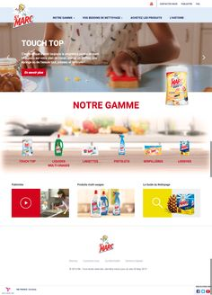 Brand website for France based St. Marc with Design and UX by LOOP, based on latest RB technology France, It Works, Personal Care, Technology, Design, Laundry Detergent, Cleaning, Products, Tech