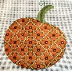 needlepoint pumpkin