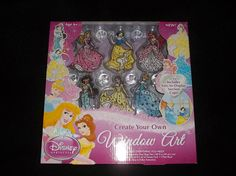 Disney Princess create your own window art set with 6 princesses *NEW IN BOX NEVER OPENED OR USED.
