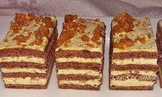Nagyon finom karamell krémes! Mentsd el az ünnepekre! Hungarian Desserts, Hungarian Recipes, My Recipes, Cookie Recipes, Dessert Recipes, Drink Recipe Book, Holiday Dinner, Winter Food, Food To Make