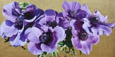 Flower Paintings by Sarah Caswell | Anemones Closer
