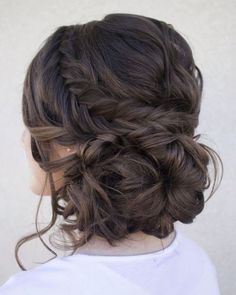 Loose serpentine braids make this updo standout. Hair & Makeup by Steph, Wedding Hairstyles, Hair Updos Loose serpentine braids make this updo standout. Hair & Makeup by Steph, Wedding Hairstyles, Hair Updos Fall Wedding Hairstyles, Fancy Hairstyles, Bridal Hairstyles, Quince Hairstyles, Hairstyle Ideas, Latest Hairstyles, Hairstyle Wedding, Beautiful Hairstyles, Brunette Hairstyles