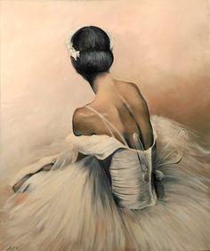 Ballerina painting Agata Mikulska-Sienkiewicz, acryl on canvas, 120x100 cm