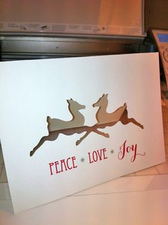 Using the Silhouette to make a Christmas card