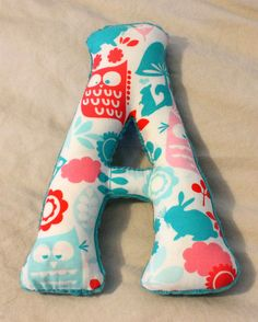 "letter pillows: I could totally make this into a ""K"" for my beginner sewing lessons!"