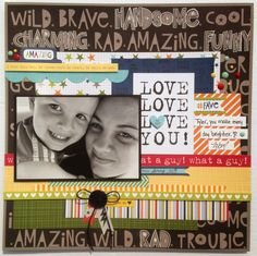 August 2014 Sketchy Challenge with Canadian Scrapbooker!  Bella Blvd's Max collection. Paper Candie Designs