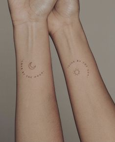 Small Matching Tattoos, Matching Sister Tattoos, Small Tattoos, Mother Tattoos, Mom Tattoos, Friend Tattoos, Tatoos, Mum And Daughter Tattoo, Tattoos For Daughters