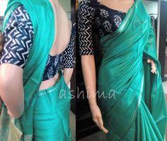 Code:2607160 - Woven Tussar Silk Saree Price INR:5280/- Saree Blouse Patterns, Saree Blouse Designs, Saree Styles, Blouse Styles, Ethnic Fashion, Indian Fashion, Women's Fashion, Indian Attire, Indian Outfits
