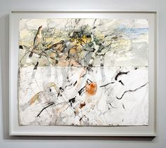 John Wolseley  'Song of sea, sand and salt - Monibeong', 2006  watercolour, graphite carbonised wood on paper  151.5 × 175.5cm