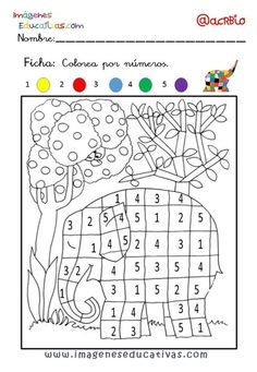 Coloriage Chiffre 5 - Through the thousand photos on the net in relation to Coloriage Chiffre we picks the top seri Preschool Worksheets, Preschool Activities, Elmer The Elephants, Color By Numbers, Eyfs, Colouring Pages, Pre School, Book Activities, Kids And Parenting