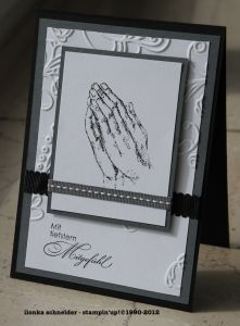 Trauerkarte Scripture Cards, Prayer Cards, Karten Diy, Christian Cards, Iris Folding, Stamping Up Cards, Get Well Cards, Unique Cards, Punch Art
