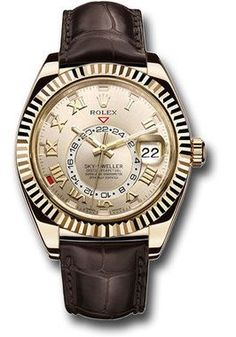 42mm 18K yellow gold case, bidirectional rotatable ring command bezel, silver sunray dial, automatic Rolex caliber 9001 movement, second time-zone displayed via off-center rotating disc, Saros annual