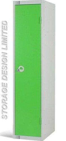 Single door locker in green