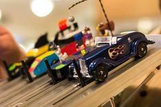 How to keep Cub Scouts occupied when they are done racing at a pack's pinewood derby races - set up a second track for younger children and for when cubs are finished racing