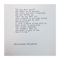 Christopher Poindexter The Universe and Her, and I poem #223