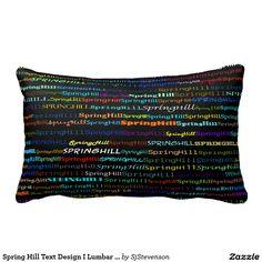 Spring Hill Text Design I Lumbar Pillow