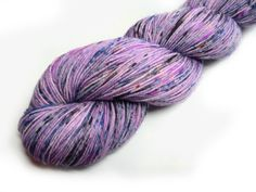 Hand Dyed Speckled Sock Yarn Superwash Merino Nylon Fingering Weight 100 g - Sweet Dreams *Dyed to Order