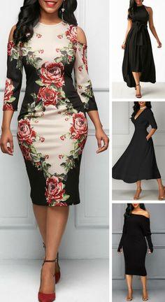 HouzDeco – Interior Design and Home Decor Ideas Elegant Dresses, Sexy Dresses, Casual Dresses, Dresses For Work, Classy Dress, Classy Outfits, Beautiful Outfits, Black Dress Outfits, Black Party Dresses
