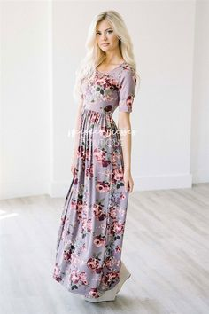 It was love at first site with this maxi dress and it will not last long! The Miranda is made of the softest material! You will look amazing but feel like you are in your pj's all day, talk about a win-win! Dress slips on, has stretch and a floral print.