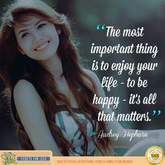 Being Happy only matters in your life..