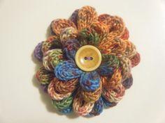spool knitted flower