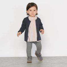 Wrap up your little one in style with jumpers, cardigans & tops for baby girls at La Redoute. Crawling Baby, Legging, Pullover, My Baby Girl, Winter Outfits, Knitwear, Baby Kids, Normcore, Hipster