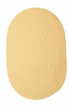 """Colonial Mills BR34 Boca Raton - Pale Banana, 11 x 14 ft. by Colonial Mills. $652.00. Boca Raton BR34 pale banana rug by Colonial Mills Inc Rugs is a braided rug made from synthetic. It is a 11 x 14 area rug oval in shape. The manufacturer describes the rug as a pale banana 11'0"""" x 14'0"""" area rug. Buy discount rugs with Buy Area Rugs .com SKU br34r132x168