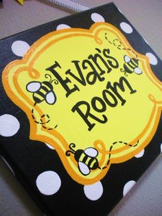 Bumble Bee Themed Name Plaque/Sign for Teachers, offices, nurseries, bedrooms, businesses and more