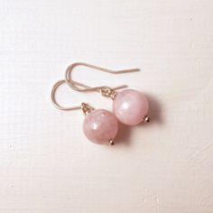 Lilac Kunzite Silver Dangle Earrings Sterling by AnnaWireJewelry