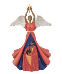 Today Zulily has several Christmas decor items with brown or black angels, Joseph, Mary, and Jesus. I'm probably buying one, and I figured others would be interested too!