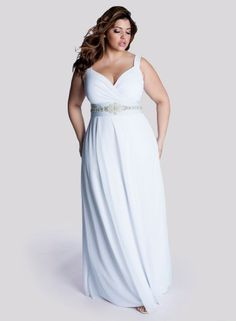 White Diamonds Wedding Gown. Plus Size Wedding Dress
