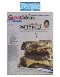 "Yum! ""The Melt"" from Chef Paul Wahlberg of Wahlburgers!"