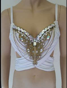 Glam Greek Goddess Design Custom Bra Costume by cRaveCreationsPLUR, $70.00