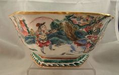 Chinese famille rose porcelain bowl Tongzhi mark & period