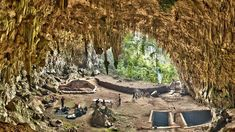 """The """"hobbit"""" fossils were discovered in 2003 in the cathedrallike Liang Bua cave, on the Indonesian island of Flores."""