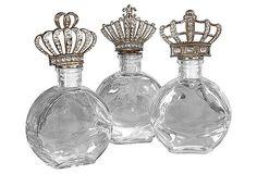 3 Asst. Crown Bottles, Short on OneKingsLane.com