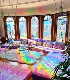 Rainbow Room Prism Decor Inspiration Rainbow Room Prism Decor Inspiration Sydney sydmcv Apartment 20 Different colors of light have proven to have subtle effects on nbsp hellip Room with lights hipster Rainbow House, Rainbow Room, Rainbow Light, Room Ideas Bedroom, Bedroom Decor, Aesthetic Room Decor, Dream Rooms, Cool Rooms, Room Inspiration