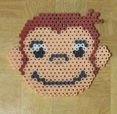 Curious George perler beads by seinatouch