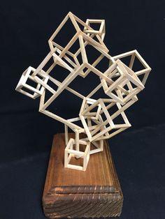 Interlocking Cube Design. Space and Delineated Spaces. Balsa wood and wood glue.(demo)