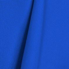 Tela Listado Satén Azul Eléctrico