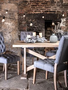Enjoy rustic style this Christmas with our Bourdin chair and Newsham table.